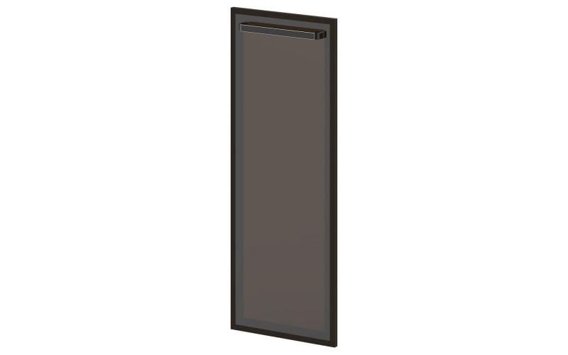 L-025 Дверь средняя. Стекло в алюминиевом профиле (444х20х1194)