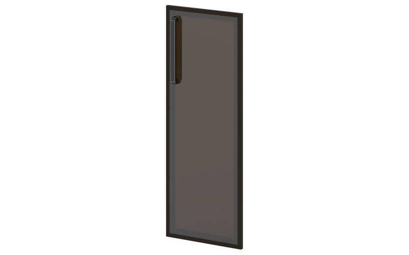 L-026 Дверь средняя. Стекло в алюминиевом профиле (444х20х1194)