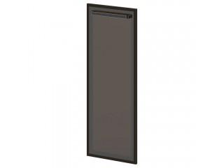 L-027 Дверь средняя. Стекло в алюминиевом профиле (444х20х1194)