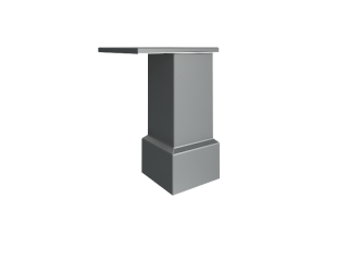 NZ 60-100 Опора для шкафов и тумб стационарных (40х40х100 мм)