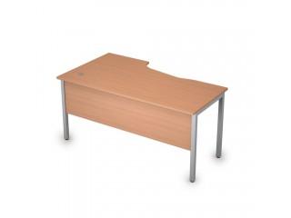 2МД.121(прав) Столы на металлических опорах, экран ЛДСП (1600х900х750)