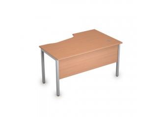 2МД.122(лев) Столы на металлических опорах, экран ЛДСП (1400х900х750)