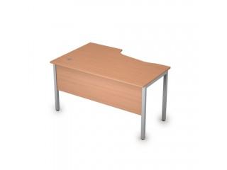2МД.123(прав) Столы на металлических опорах, экран ЛДСП (1400х900х750)
