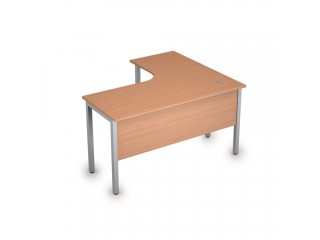 2МД.130(лев) Столы на металлических опорах, экран ЛДСП (1400х1200х750)