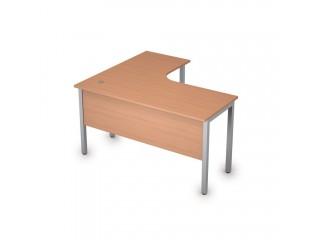 2МД.131(прав) Столы на металлических опорах, экран ЛДСП (1400х1200х750)