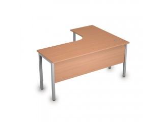 2МД.132(лев) Столы на металлических опорах, экран ЛДСП (1600х1200х750)