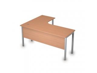 2МД.133(прав) Столы на металлических опорах, экран ЛДСП (1600х1200х750)