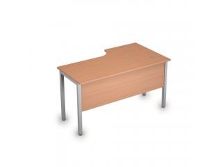 2МД.142(лев) Столы на металлических опорах, экран ЛДСП (1400х800х750)