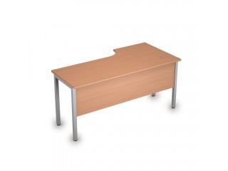 2МД.143(лев) Столы на металлических опорах, экран ЛДСП (1600х800х750)