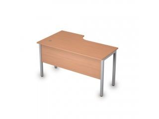 2МД.145(прав) Столы на металлических опорах, экран ЛДСП (1400х800х750)