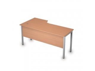 2МД.146(прав) Столы на металлических опорах, экран ЛДСП (1600х800х750)