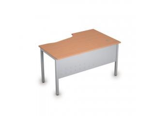 2МК.122(лев) Столы на металлических опорах, экран металл (1400х900х750)