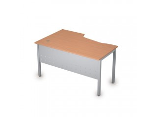 2МК.123(прав) Столы на металлических опорах, экран металл (1400х900х750)