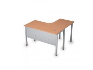 2МК.128(лев) Столы на металлических опорах, экран металл (1200х1200х750)