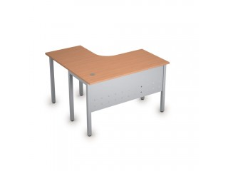 2МК.129(прав) Столы на металлических опорах, экран металл (1200х1200х750)