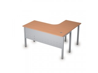 2МК.130(лев) Столы на металлических опорах, экран металл (1400х1200х750)