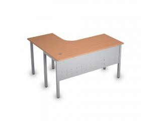2МК.131(прав) Столы на металлических опорах, экран металл (1400х1200х750)