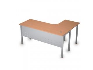 2МК.132(лев) Столы на металлических опорах, экран металл (1600х1200х750)