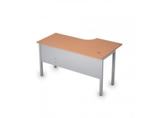 2МК.142(лев) Столы на металлических опорах, экран металл (1400х800х750)