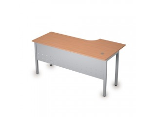 2МК.143(лев) Столы на металлических опорах, экран металл (1600х800х750)
