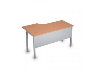 2МК.145(прав) Столы на металлических опорах, экран металл (1400х800х750)