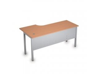 2МК.146(прав) Столы на металлических опорах, экран металл (1600х800х750)
