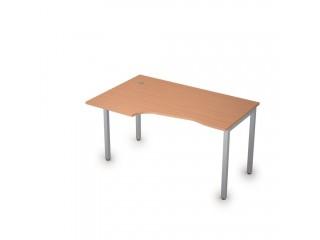 2М.122(лев) Столы на металлических опорах без экрана (1400х900х750)