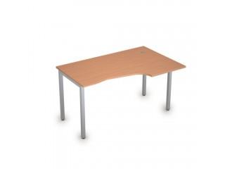 2М.123(прав) Столы на металлических опорах без экрана (1400х900х750)