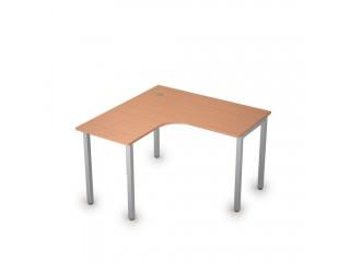 2М.128(лев) Столы на металлических опорах без экрана (1200х1200х750)