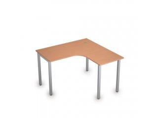 2М.129(прав) Столы на металлических опорах без экрана (1200х1200х750)