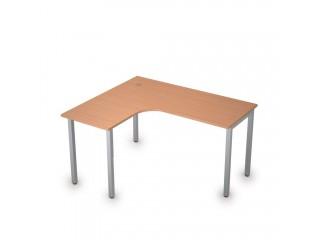 2М.130(лев) Столы на металлических опорах без экрана (1400х1200х750)