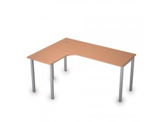 2М.132(лев) Столы на металлических опорах без экрана (1600х1200х750)