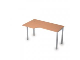 2М.142(лев) Столы на металлических опорах без экрана (1400х800х750)