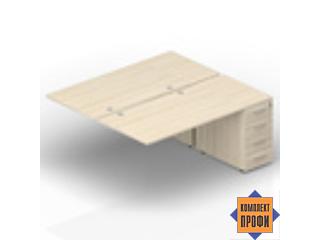 2TPG128N072 Приставной стол на тумбах (1600х1650х720 мм)