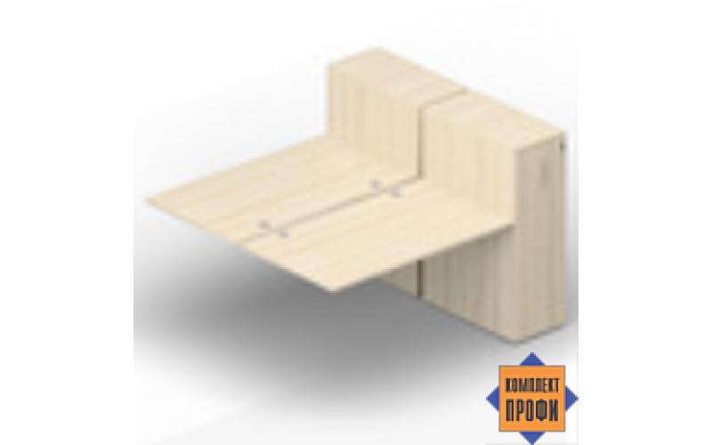 2TPG128T112 Приставной стол со шкафами Tower (1600х1650х720 мм)