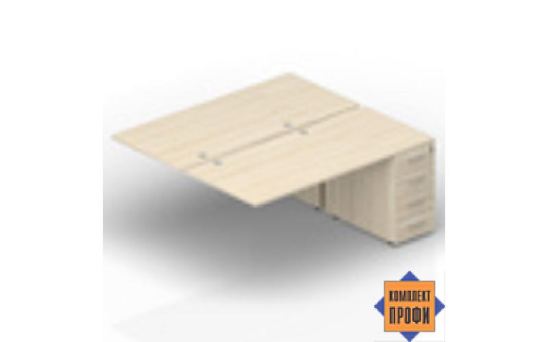 2TPG148N072 Приставной стол на тумбах (1800х1650х720 мм)