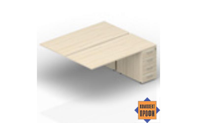 2TPM148N072 Приставной стол на тумбах (1800х1650х720 мм)