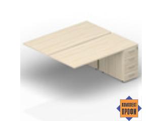 2TPS128N072 Приставной стол на тумбах (1600х1650х720 мм)