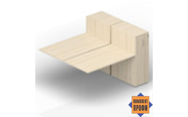 2TPS128T112 Приставной стол со шкафами Tower (1600х1650х720 мм)
