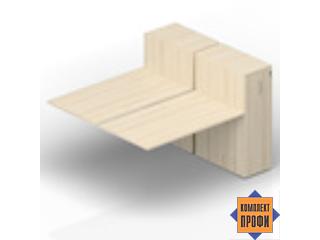 2TPS168T112 Приставной стол со шкафами Tower (2000х1650х720 мм)