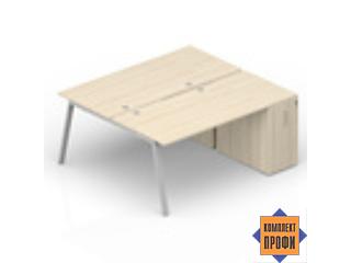 AR2TPG128N07 Составной стол с приставными тумбами (1600х1650х720 мм)
