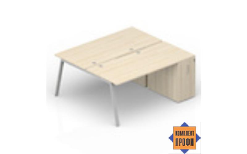 AR2TPG128T07 Составной стол с приставными шкафами (1600х1650х720 мм)