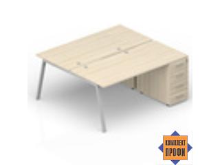 AR2TPG148N07 Составной стол с приставными тумбами (1800х1650х720 мм)