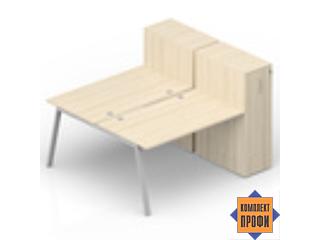AR2TPG148T11 Составной стол на 2 рабочих (1800х1650х1120 мм)