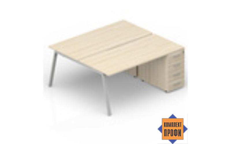 AR2TPM128N07 Составной стол с приставными тумбами (1600х1650х720 мм)