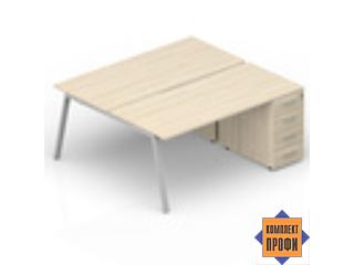 AR2TPM148N07 Составной стол с приставными тумбами (1800х1650х720 мм)