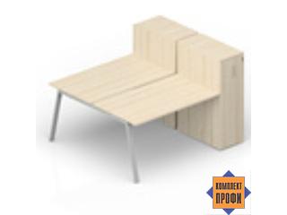 AR2TPM148T11 Составной стол на 2 рабочих (1800х1650х1120 мм)