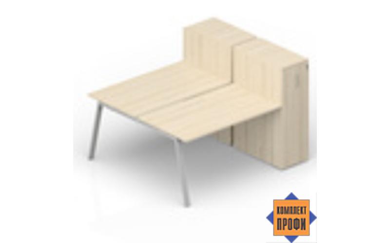 AR2TPM128T11 Составной стол на 2 рабочих (1600х1650х1120 мм)