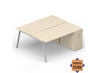 AR2TPS168T072 Составной стол с приставными шкафами Tower (2000х1650х720 мм)