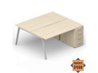 AR2TPS128N07 Составной стол с приставными тумбами (1600х1650х720 мм)